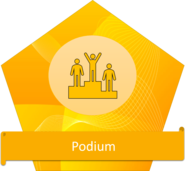 podium badge